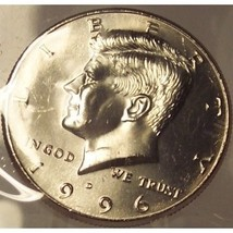 1996-D Kennedy Half Dollar GEM MS65 In the Cello #0523 - $5.49