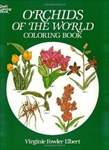 Dover Coloring Book ORCHIDS OF THE WORLD 45 B&W Illustrations to Color D... - $7.91