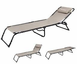 Silla De Playa Plegable Con 3 Ajustes Para El Descanso Y Almohada Extrai... - $146.99