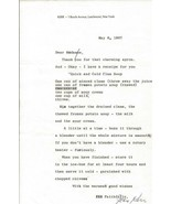 Jean Kerr Signed 1967 Typed Letter & Clam Soup Recipe - $93.28