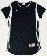 Nike Striped Performance Henley Vented Softball Jersey Women's S Black 2... - $29.69