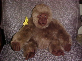 "16"" Amy Gorilla Plush Toy With Butterfly From Congo By Dakin 1995 - $49.49"