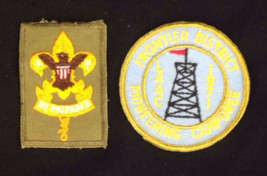 2 Boy Scouts of America Patch Badge Vtg LAAC 1971 Frontier District Be P... - $13.98