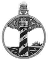 Jewelry Trends Sterling Silver Cape Hatteras Lighthouse Pendant - $26.99