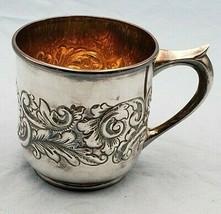 Antique Sterling Silver Shaving Mug by Shreve & Co. San Francisco #7072 - $395.00