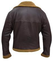 Men's B3 Sheepskin Aviator Flight Fur Shearling Brown Bomber Leather Jacket image 5