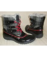 Anne Klein Sport AKGAILLA Black Gray Quilted Upper Rubber Duck Boots Siz... - $28.70