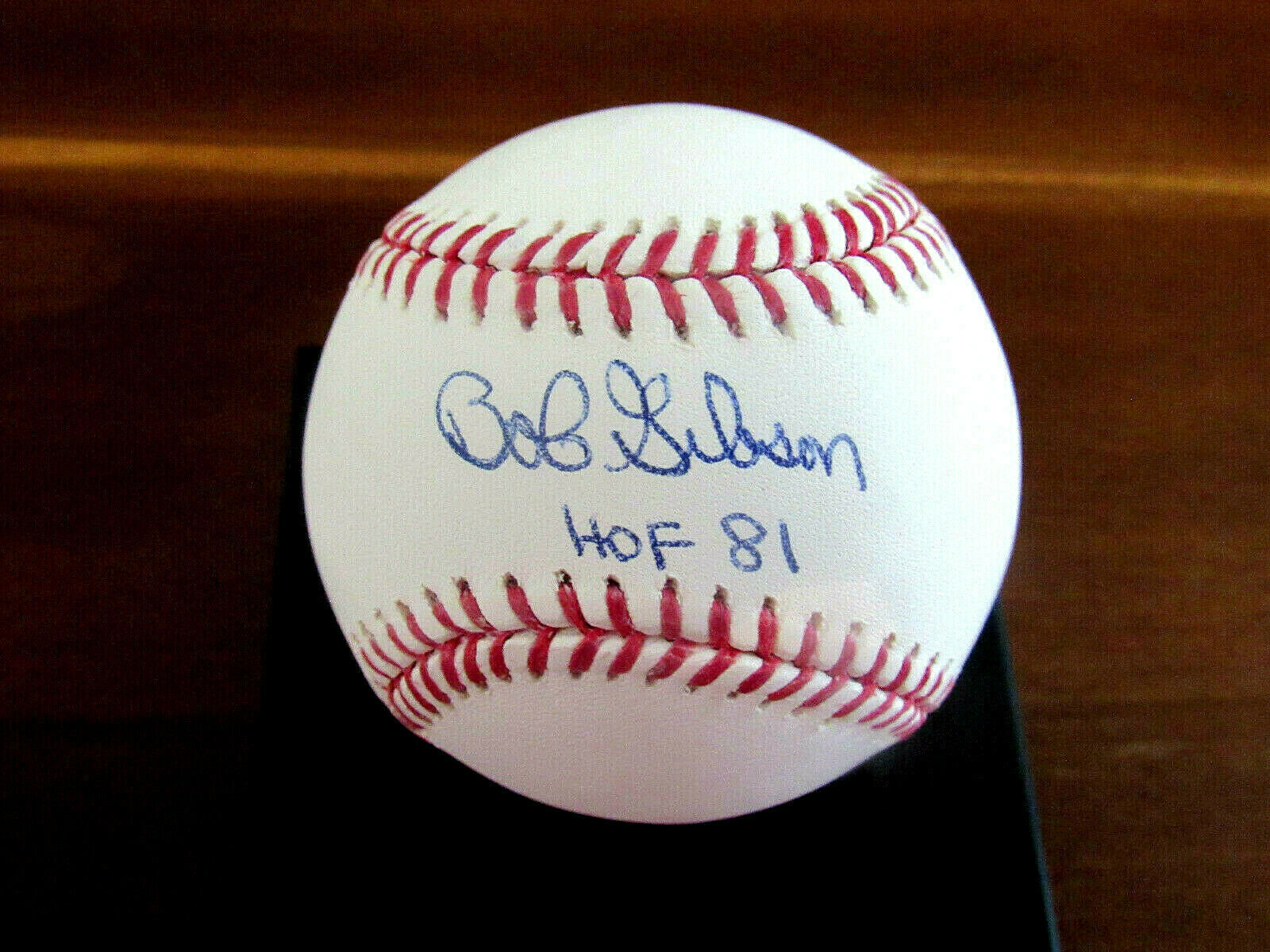 Primary image for BOB GIBSON HOF 81 ST. LOUIS CARDINALS SIGNED AUTO OML BASEBALL JSA AUTHENTIC GEM