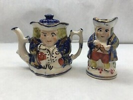 SET of TWO Toby SLLERTON Lustre Design PITCHER and Miniature TEAPOT Set - $37.86