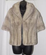 Vintage 50's Women Honey Blonde Mink Fur Stole/Shaw/Mini Cape Satin Lini... - $150.00