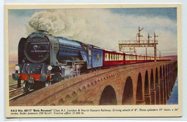 Bois Roussel L&NE Railway Train Artist Signed Alan Anderson UK postcard - $6.93