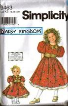 "UNCUT Simplicity Pattern 9463 DAISY KINGDOM Dress - Sz K5 + 18"" DOLL - $12.99"