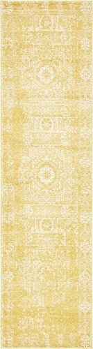A2Z Rug Modern and Traditional Inspired Overdyed Design Rugs - Yellow 2' 7 x 10' for sale  USA