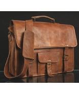 HANDMADE Genuine Brown Leather Vintage Retro Men Laptop Computer MESSENG... - $36.10+