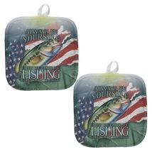 4th of July Always Be Yourself American Fishing Pot Holder (Set of 2) - $18.95