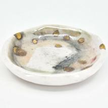 "Tiffany Thomas 22k Gold Accent Ceramic Splendor Watercolor 3.5"" Trinket Dish image 2"
