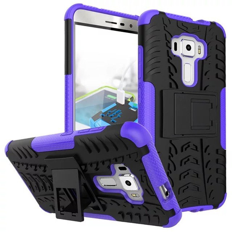 N hybrid armor kickstand cover case for asus zenfone 3 ze552kl 5 5inch purple p20160708155307336