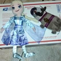 Disney The Northwest Company Frozen Elsa Stuffed Plush Doll With Olaf & ... - $17.81