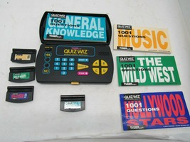 Vintage 1993 Tiger QuizWIz With Four Games and Books Tested Works - $14.84