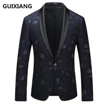 "GUIXIANG 2017 British style blazer men""s business casual suits men embro... - $95.40"