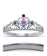 14k White Gold Fn. 925 Silver Lovely Disney Princess Ariel New Design Cr... - £38.82 GBP