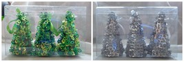 """Holiday Christmas Tree Ornaments Silver or Green 4"""" tall - $4.25"""