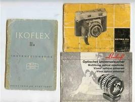 Ikoflex II A Retina IIIC & Linhof Optical Viewfinder Instruction Booklet... - $17.82