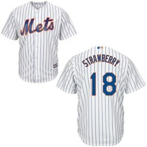 Men #18 Darryl Strawberry New York Mets Jersey Stitched White Cool Base ... - $35.80+