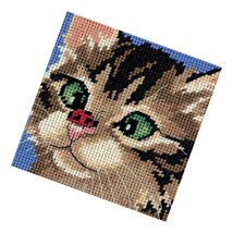 Dimensions Point Kit, Cross Eyed Kitty Point, 5'' W X 5'' H - $20.99