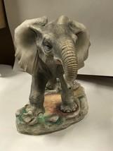 Large BOEHM Porcelain Bisque AFRICAN ELEPHANT #200-44 Statue Figurine - $593.99