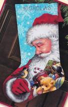 Dimensions Santa and Toys Bear Snow Christmas Needlepoint Stocking Kit 0... - $52.95