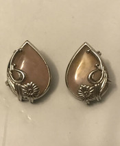 vintage rose quartz earrings - $9.90