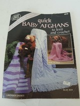 American School of Needlework Quick Baby Afghans To Knit And Crochet #6018 - $7.27