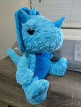 "Blue Stuffed Dinosaur ~Measures about 13""x12""~ Soft, Plush Dino~Baby ~Ho... - $18.50"