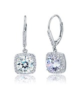 Women Star 2.5 Carat Round Earrings Solid Sterling Silver Wedding Dangle... - $35.99