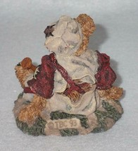Boyd Bearstone Resin Bears Homer On The Plate RED Figurine #2225 31E NEW IN BOX image 2