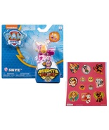 Paw Patrol Mighty Pups Skye Figure with Light-up Badge and Paws with Sti... - $15.95