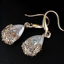 18k Gold Swarovski Crystal Drop Earrings - $16.00