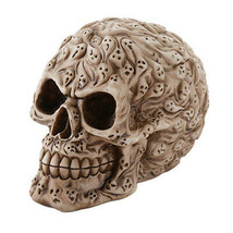 Pacific Giftware Spirit Ghost Print Skull Money Bank Desktop Figurine 4.... - $12.86