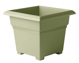 Novelty Countryside Square Tub Planter, Sage, 14-Inch - $30.45 CAD