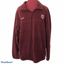 Men's Columbia Texas A & M Aggies Fleece Jacket Size XL Maroon - $18.70