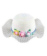 Gentle Meow Straw Hat Visor Hat Child Sunscreen Beach Hat Girl Hat Wide ... - $13.70