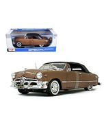 Maisto 1950 Ford Convertible Soft Top Brown/Bronze 1/18 Model Car - $54.47