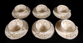 Rare 1950's Franciscan Winter Bouquet 6 Masterpiece China Demitasse Cup & Saucer - $174.99