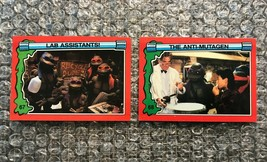 1991 Topps Teenage Mutant Ninja Turtles TMNT II Movie Cards Lot: #67 & #68 - $3.92