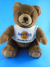 Hard Rock Cafe WASHINGTON DC TEDDY BEAR Wearing HRC Logo Tee Shirt CUTE! - $9.00