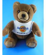 Hard Rock Cafe WASHINGTON DC TEDDY BEAR Wearing HRC Logo Tee Shirt CUTE! - $9.00