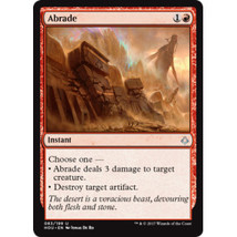 Abrade Promo Magic the Gathering Red Instant Single Card Free Shipping - $3.50