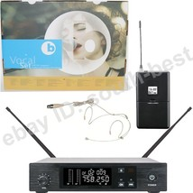 MiCWL Beige Headset Wireless Vocal Microphone System UHF PLL Frequency S... - $142.56