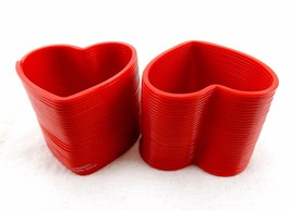 Red Heart Plastic Spring Thing ~ Lot of 2, Bouncy, Fun Slinky-Style Toys... - $5.83